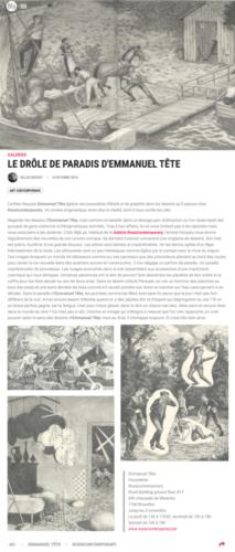 Gilles Bechet, Le drole de paradis d'Emmanuel Tête, in Mu in the City