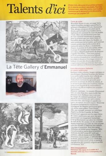 Steve Polus, La Tete Gallery d'Emmanuel, in Wolvendael